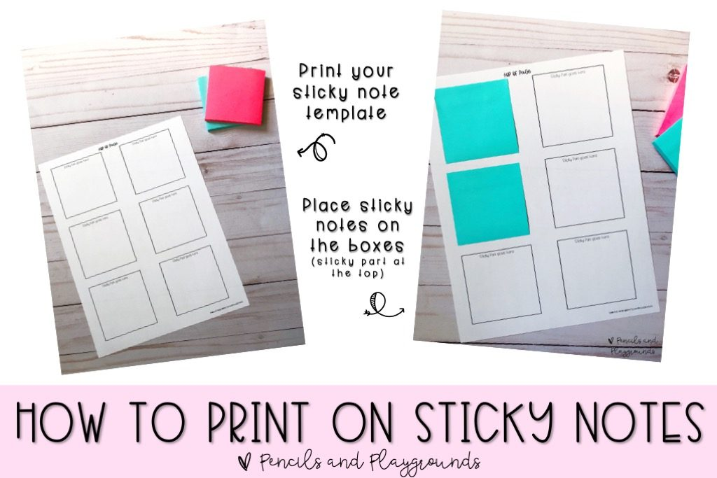 how to print on post its