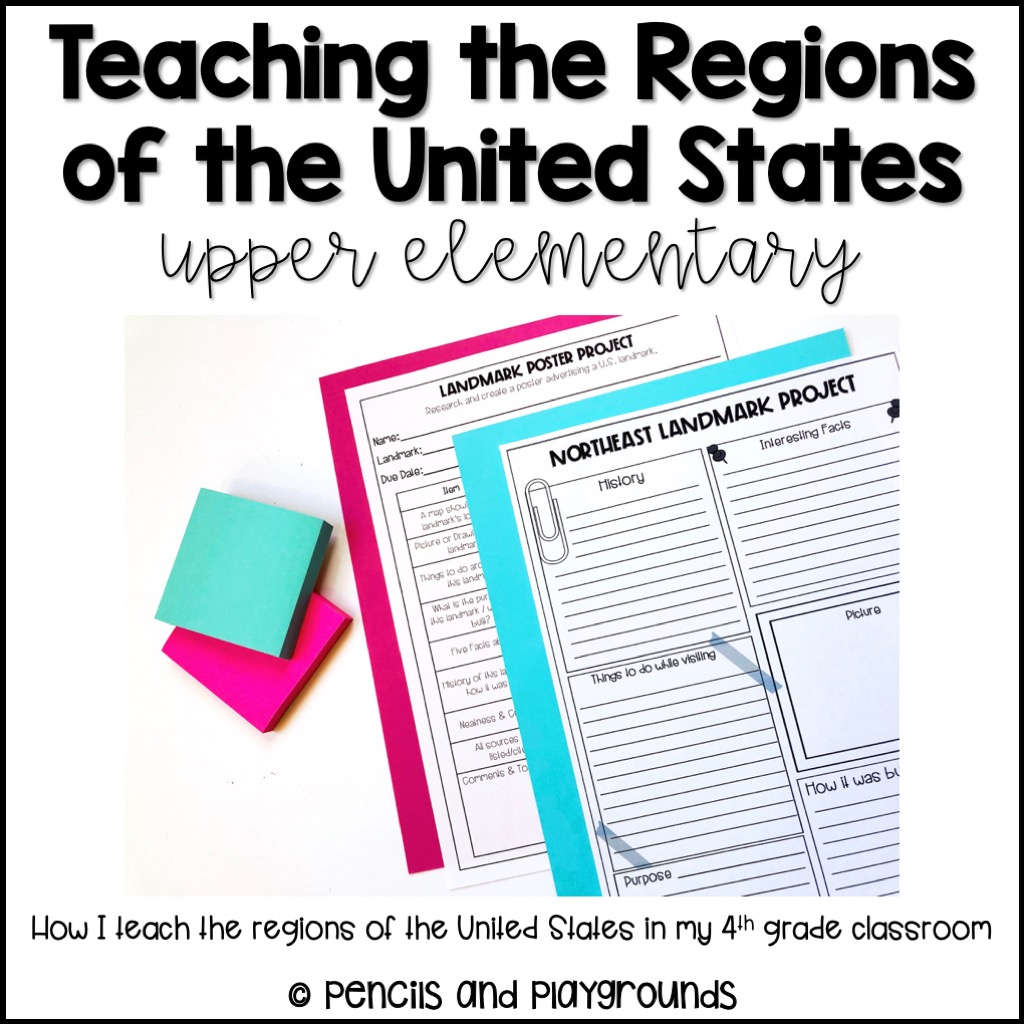 Teaching the regions of the United States is an exciting way to expose students exposed to what life is like in different parts of our country...
