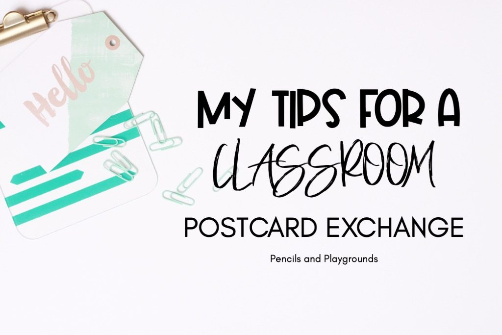 classroom postcard exchange