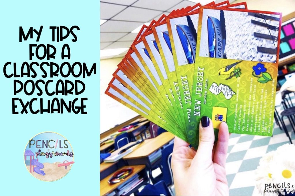 my tips for a classroom postcard exchange