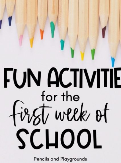 5 Fun Activities for the First Week of School