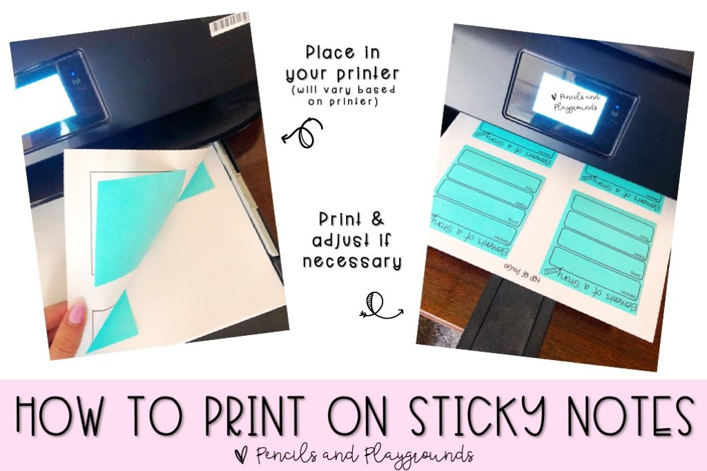 how to print on post-its